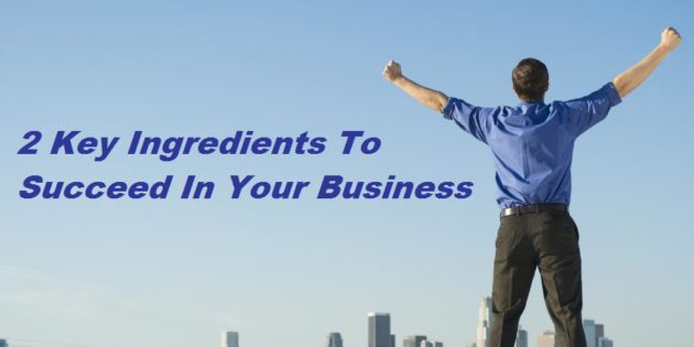 2 Key Ingredients To Succeed In Your Business